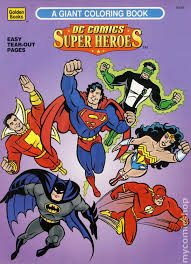 dc ics super heroes a giant coloring book sc 1996 golden books ic books