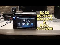boss audio installation and tutorial in dash double din bvbi boss audio bv9364b unboxing basic function test