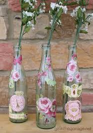 floral decoupage furniture. Floral Decoupage Furniture. Decoupaged Bottles For Spring. Girlinthegarage.net. Plus A Coupon Furniture T
