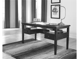 full size of rectangle black wooden desk with u shaped drawers and shelf underneath also four