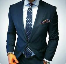 Pant And Shirt Men Wedding Business Custom Made Fashion Blue 3pc Suit Coat Pant