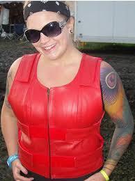 14945red las red bulletproof leather vest police vest