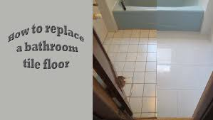strat to finish replace old bath tile floor with new porcelain tile
