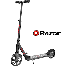 Razor Power A5 Black Label 22 Volt Lithium Ion Electric Powered Scooter For Ages 8 And Speeds Up To 10 Mph