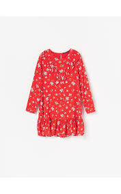 Buy online! <b>Viscose</b> dress with micro <b>floral print</b>, RESERVED ...