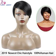 <b>KISSMEE</b> 2019 Newest Chic Hairstyle 6 Inches Short Wig #1B ...