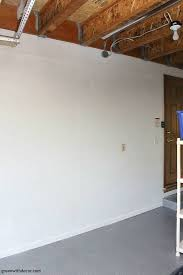 painting the garage walls green with