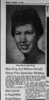 King Brewer Engagement 1960 - Newspapers.com
