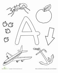 Teach your children's the basics alphabet training with the profit of our printable letter. Letters Of The Alphabet Coloring Pages Education Com
