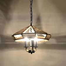 vintage style chandelier industrial 3 light with rope shade in small vintage style chandelier