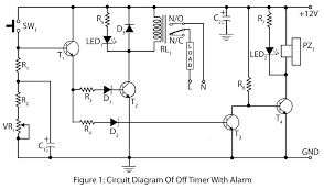 circuit diagram timer switch   circuit wiring diagramcircuit description of off timer   alarm