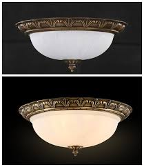 floureon brass 4 light 18inch ceiling lamp home ceiling light fixture flush mount pendant light chandeliers