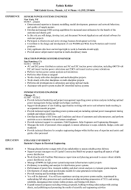 Power Systems Engineer Resume Samples Velvet Jobs