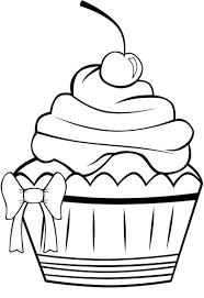 Muffin Coloring Page At Getdrawingscom Free For Personal Use