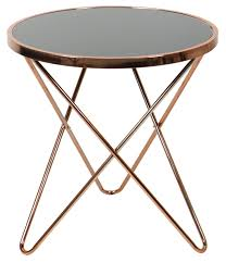 carafa regular round table copper black