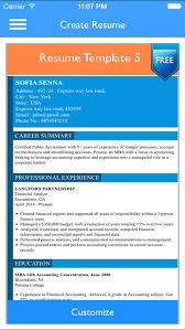 Free Resume Builder App Professional CV Maker And Resumes Designer Custom Resume Builder App Free