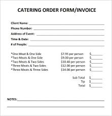 Catering Invoice Sample Adorable Invoice Template Catering Invoice Template Incredible Catering