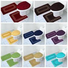contour rug bath rugs mats bathroom set toilet lid cover solid canada