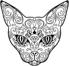 Small Picture Sugar Skulls Coloring Pages bskullb day of the dead b