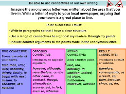 connectives presentation english language sliderbase be able to use connectives in our own writing