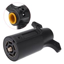 compare prices on 7 trailer plug online shopping buy low price 7 12v car trailer plug 7 pin american blade round connector trailer adapter for tow vehicle t21847