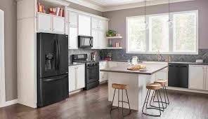stainless steel and white appliances. Plain Appliances Kitchens With White Cabinets And Black Stainless Steel Appliances Kitchen  Amazing Rhweupco Matte Embrace The Dark