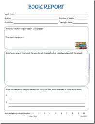 Book Report Template Simple Book Report Form And Reading Log Printables
