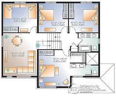 House plan W  V detail from DrummondHousePlans com    nd level Large bedroom Modern Home   two family room upstairs   Enclave
