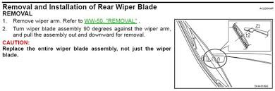 can t rear wiper fuse for 2006 nissan murano fixya they include printed instructions in the box but just in case this is from the official nissan service manual