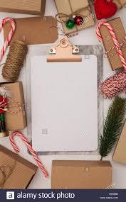 Blank Christmas List Christmas List Blank Clipboard With Festive Gits And