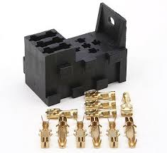 3 way interlocking fuse box plus 1 relay socket terminals relf 1kit 3 way interlocking fuse box plus 1 relay socket terminals