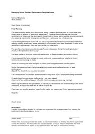 poor staff performance warning letter