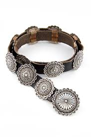 navajo sterling silver round concho belt