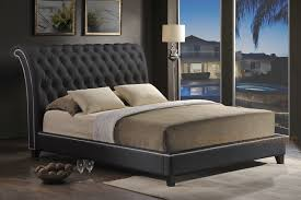 king bed leather headboard. Plain Headboard Dark Leather Headboard King Inside Bed