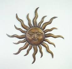 metal sun face wall art
