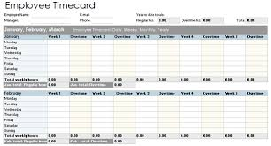 weekly time card timesheet template