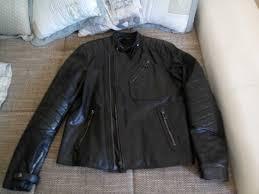 belstaff for beckham kendall black leather motorcycle jacket it 52 us 42 l slim