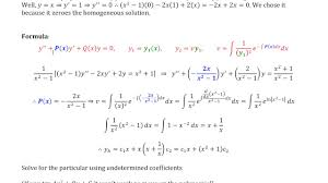 second solution for reduction of order x 2 1 y 2xy 2y x 2 1