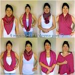 Infinity scarf how to wear video