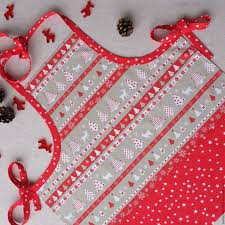 Купить Детский колпак и <b>фартук</b> - <b>ярко</b>-<b>красный</b>, текстиль для ...