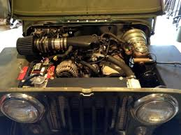 the novak guide to installing chevrolet gm engines into the jeep flatfender lu3 engine bay view