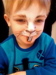 simple easter bunny makeup face painting