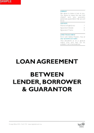 Personal Loan Agreement Between Friends Template Sample Contract ...