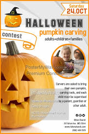 Pumpkin Carving Contest Flyers Pumpkin Carving Contest Template Postermywall