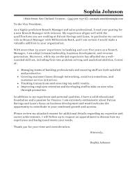 Sample Manager Cover Letter Leading Professional Branch Manager Cover Letter Examples