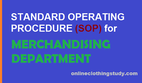 Sop For Merchandising Department In The Readymade Garment Industry ...