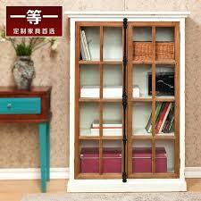 locker bookcase wood wine cabinet glass door entrance hall cabinet bookcase partition between a two door
