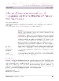 pdf hypothyroidism and depression salient aspects of pathogenesianagement