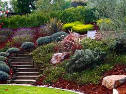 Hill Landscaping Ideas | hillside steps. Pretty wide winding steps down  steep hill, filled