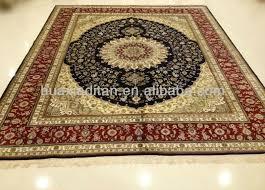 Premium Hand Knotted Silk Persian Rug For Sale Belgium Carpet